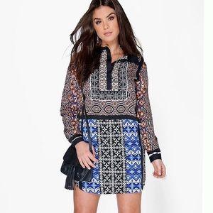 Boohoo plus size shirt dress